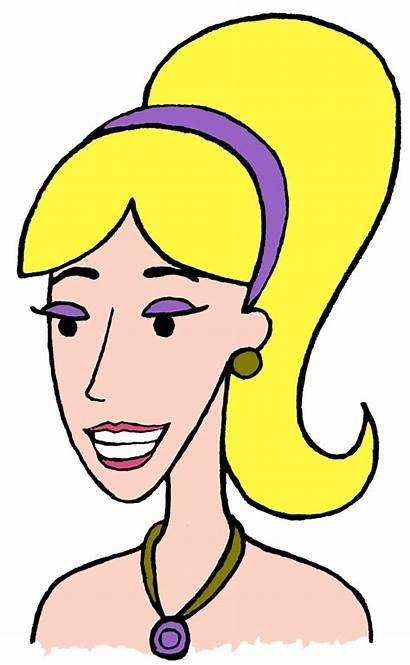 Blonde Clipart Hair Lady Clip Cartoon Woman