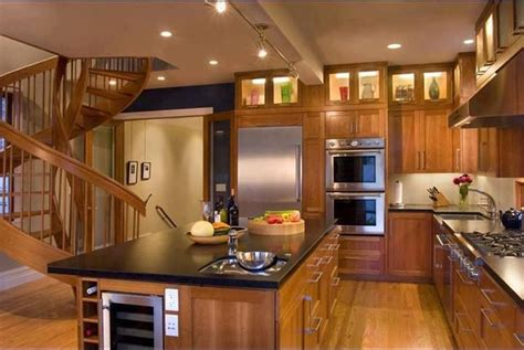 Wood Kitchen Cabinets Love The Upper Display With Interiors Inside Ideas Interiors design about Everything [magnanprojects.com]