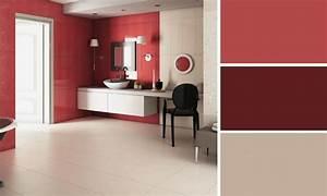 quelle couleur mettre dans ma salle de bains With salle de bains rouge