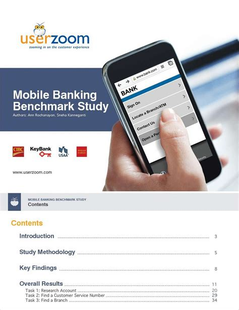 Mobile Benchmark by Mobile Banking Benchmark Study Which Bank Offers The Best