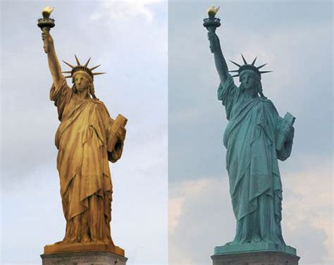 original statue of liberty color power wash the statue of liberty to return it back to it s