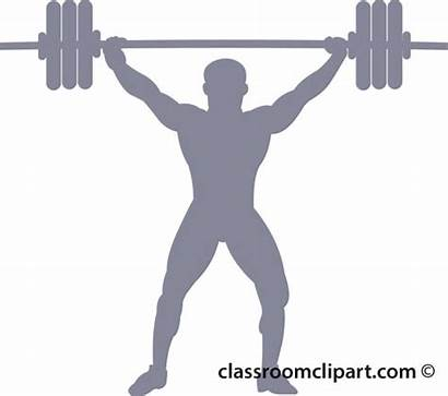 Silhouette Weightlifting Clipart Weightlifter Weight 01b Lifting