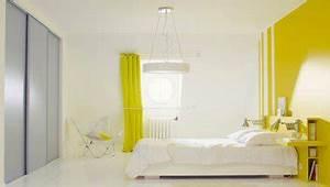 Idée Peinture Chambre Adulte : la peinture jaune pour une chambre c 39 est chouette ~ Preciouscoupons.com Idées de Décoration