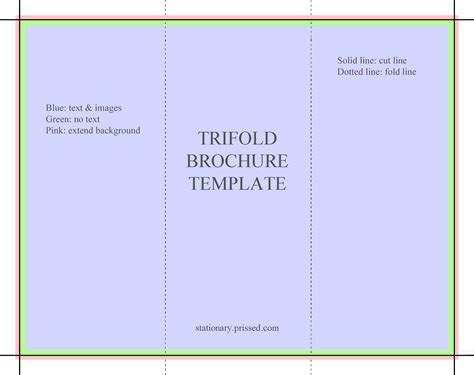 Brochure Template Free by Trifold Brochure Template Flyer Handout 3 Fold