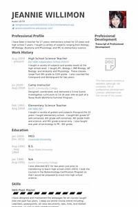 Science teacher resume samples visualcv resume samples for Sample resume of a teacher in high school