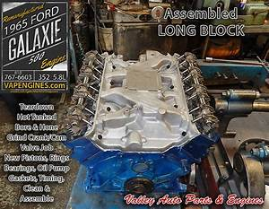 65 Ford Galaxie 500 5 8l 352 V8 Remanufactured Engine