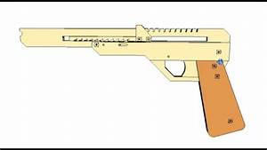 Elastic Band Gun or Rubber band plans for CNC laser or