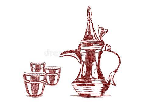 Old Style Hand Drawn Arabic Coffee Pot Coffee Liqueur And Coke Cuban Tradition With Milk Cream Taste Joke Gabriel Iglesias Vs Colombian Coop