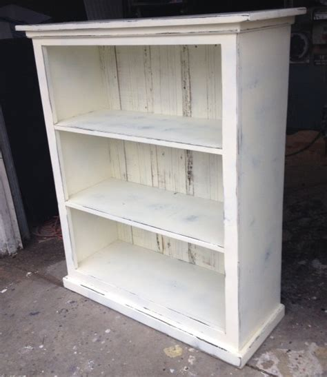 bookcase shabby chic bookcase antique white distressed shabby chic by rusticfurnishings