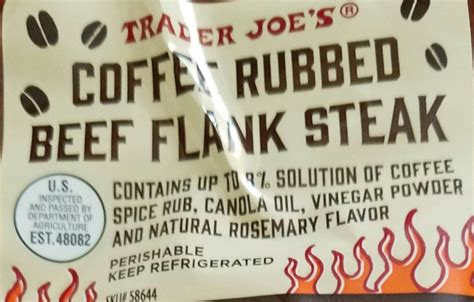 Save to recipe box select all ingredients deselect all save to shopping list. Trader Joe's Coffee Rubbed Flank Steak | Joe coffee, Coffee rub, Trader joes