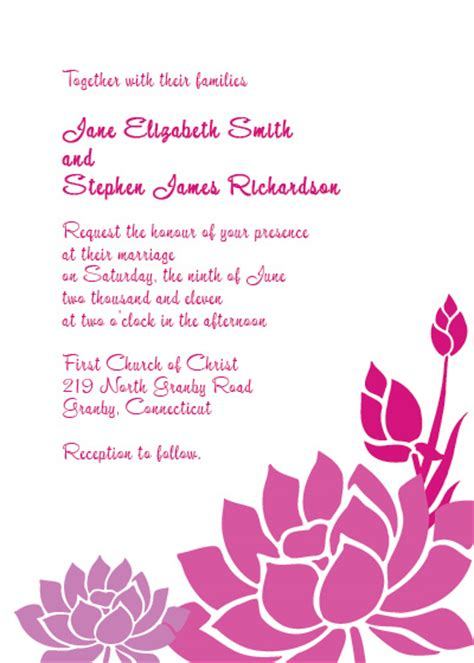lotus flower wedding invitation wedding invitation