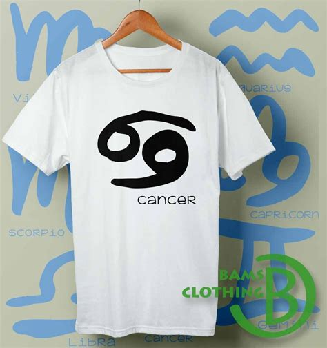 Kaos Zodiak Pria Cancer Juni jual kaos zodiak cancer logo kaos logo kaos oblong