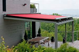 terrassenuberdachung mit markise With markise balkon mit retro tapete