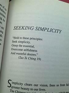 Tao Te Ching Se... Simplicity Minimalist Quotes