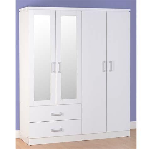 White 4 Door Wardrobe by Bbs1076 Charles 4 Door 2 Drawer Wardrobe In White