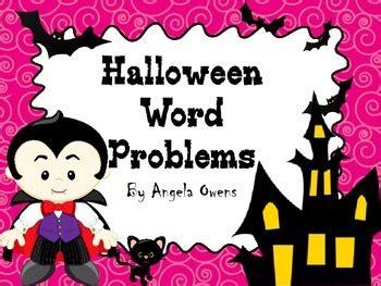 halloween word problems 5th grade halloween word problems 4th 5th grade by angela owens tpt