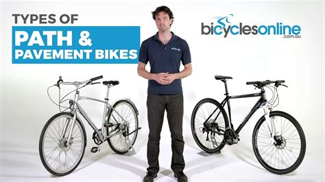 What Are The Different Types Of Path And Pavement Bikes