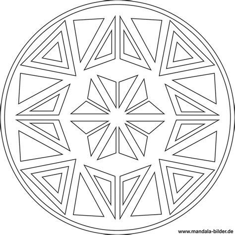 mandala malvorlage dreieck