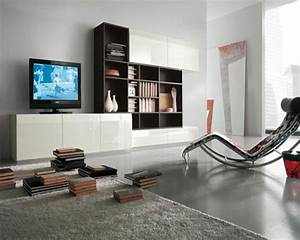 Living Room : Simple White Contemporary Living Room With ...