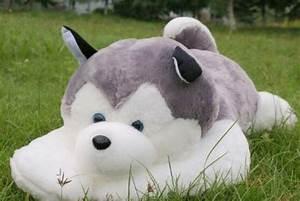 18″/45cm Big large NATURE Siberian Husky dog PLUSH STUFFED ...