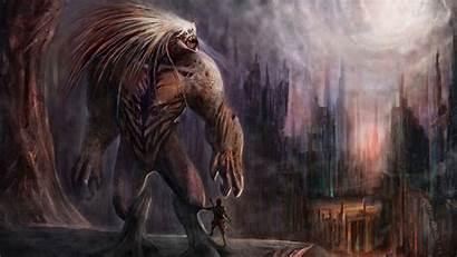 Beast Mutant Skyscraper Pictured Fantasy Resolution Screen