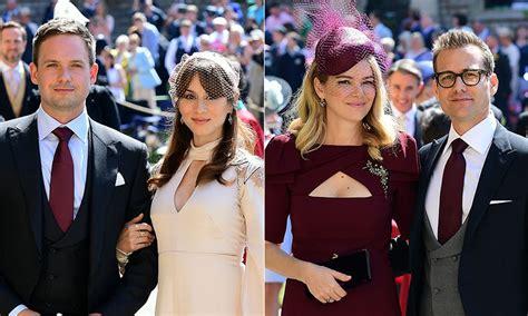 suits cast arrive  support meghan markle  star studded