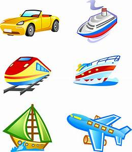 Cute style icon vector transport Free Vector / 4Vector