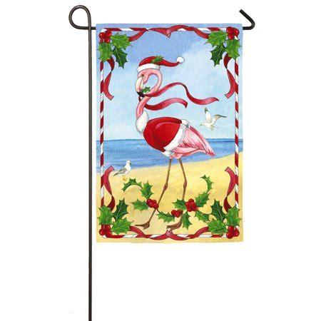 flamingo garden flags evergreen flamingo satin garden flag 12 5 x 18