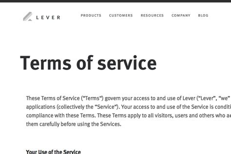Terms And Conditions Template + Generator  Free 2017