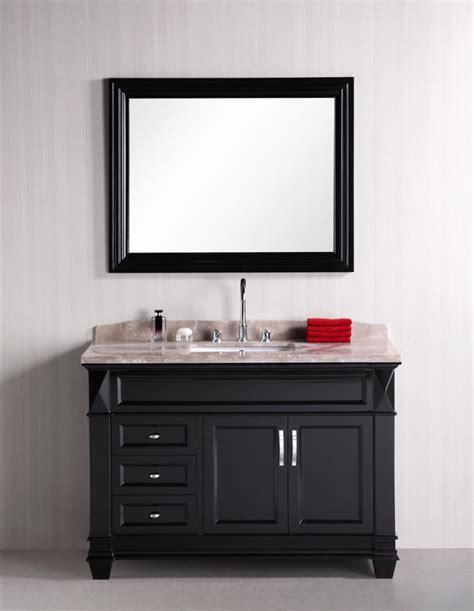 48 inch single sink bathroom vanity with badel gray marble