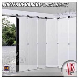 portes de garage coulissantes a deplacement lateral abs With porte de garage coulissante isolante