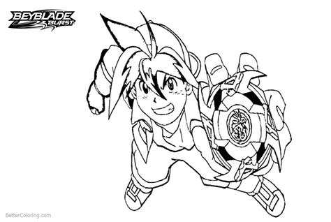 Beyblade Kleurplaat by Tyson From Beyblade Burst Coloring Pages Free Printable