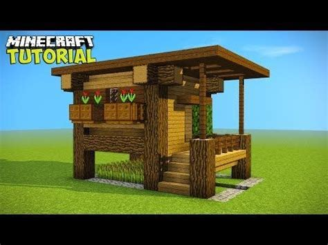 minecraft simple easy efficient survival house tutorial     small survival house