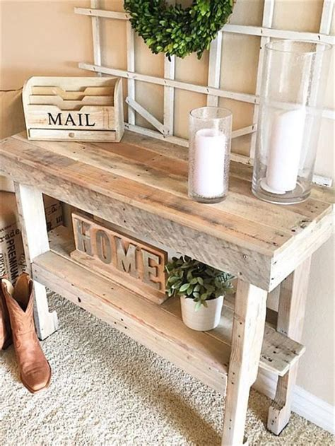 rustic entryway table rustic pallet entryway table pallet furniture plans
