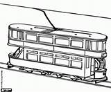 Coloring Double Decker Pages Tramway Miscellaneous Vehicles Monorail Printable sketch template