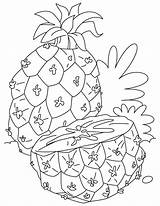 Pineapple Coloring Pages Fruits Adults Half Cut Printable Momjunction Recommended Colors Getcoloringpages Popular Strawberry sketch template