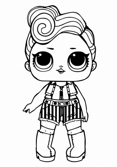 Lol Coloring Doll Pages Printable Funky Sheets