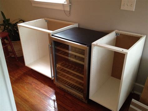 bar cabinet with fridge space numerar akurum diy chic wine bar ikea hackers
