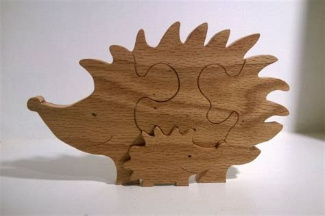 hedgehog  baby puzzle hand cut  scroll
