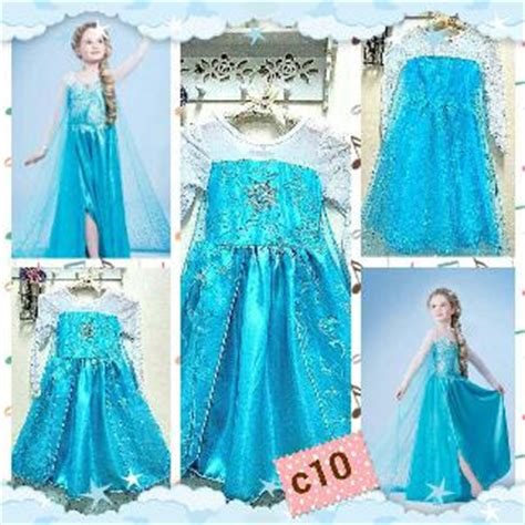 jual dress kostum frozen elsa usia