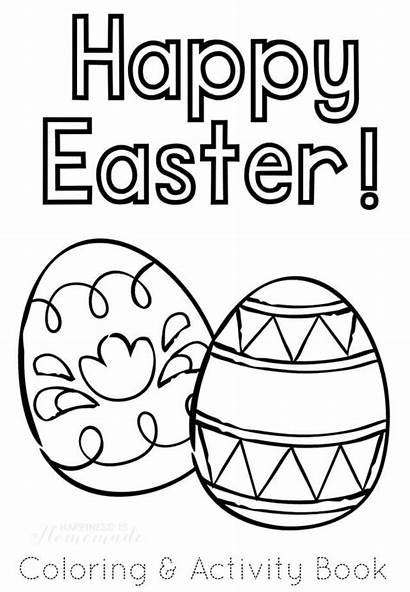 Easter Coloring Printable Pages Activity Activities Happy