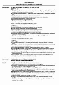 Sales Development Representative Resume Samples