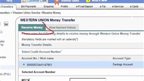 receive  withdraw western union money