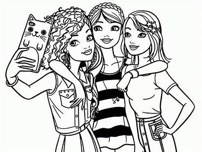 Barbie Coloring Pages Bff Printable Friends Cool