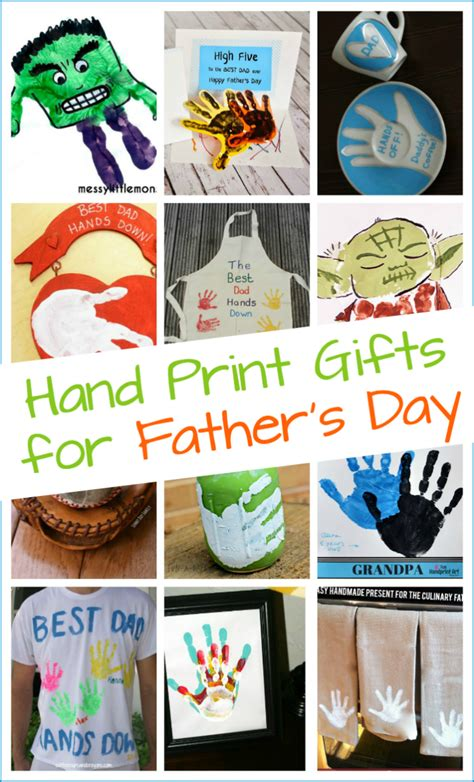 handmade s day gifts from 202   10 Handmade Fathers Day gifts kids can make with their hand prints