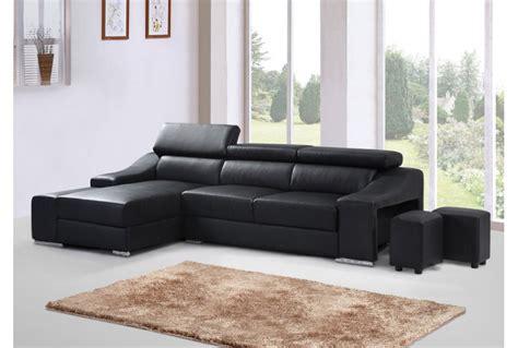 canapé d angle convertible avec coffre de rangement but canapé d angle cuir noir univers canapé