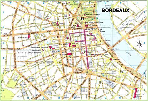 Ville De Carte by Carte De Bordeaux Ville De Bordeaux Cartes Et Plans De