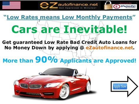 Bad Credit Car Loans For No Money Down