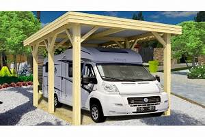 Carport Camping Car : carports toit plat tous chalets chalets tendille ~ Dallasstarsshop.com Idées de Décoration