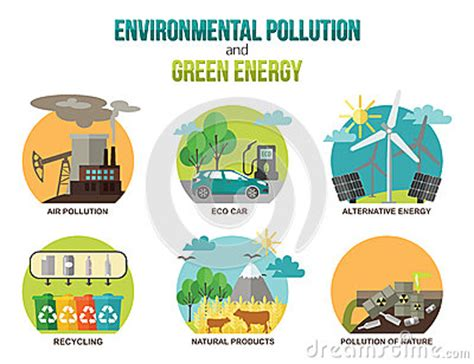 environmental pollution and green energy ecology stock vector 61285621